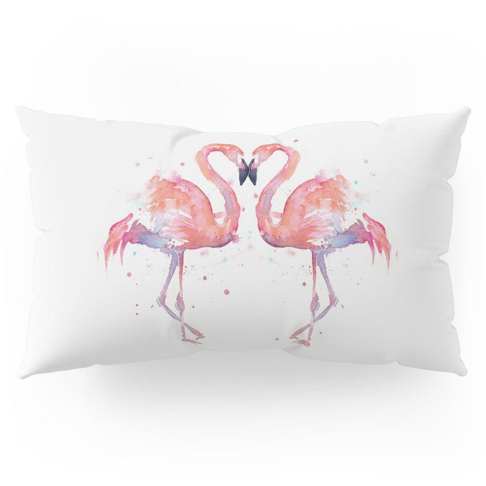 Society6 Pink Flamingo Love Two Flamingos Pillow Sham King (20'' x 36'') Set of 2