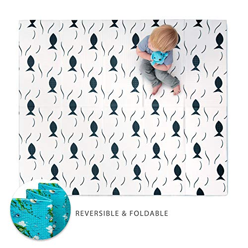 JumpOff Jo - Little Jo Kids Play Mat - Waterproof Foam Playmat - Perfect Tummy Time Pad for Babies or Gymnastics for Toddlers - Reversible & Foldable - 69