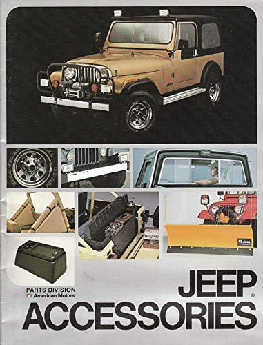 1982 JEEP FULL-LINE ACCESSORIES: CHEROKEE, WAGONEER, PICKUP, SCRAMBLER & CJ-5/CJ-7 VINTAGE COLOR SALES BROCHURE - USA - FABULOUS ORIGINAL !!