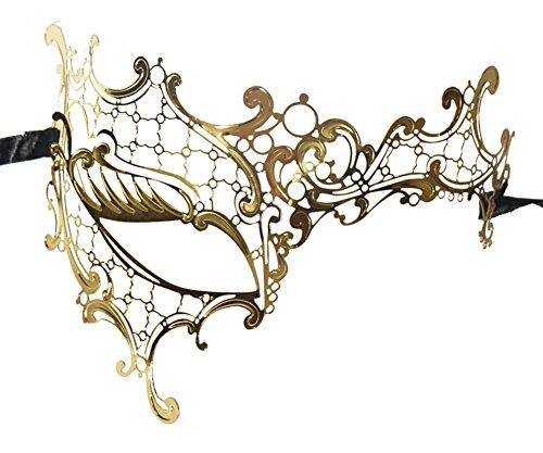 Luxury Mask Women's Signature Phantom Of The Opera Venetian Laser Cut (One Eye Masquerade Mask)