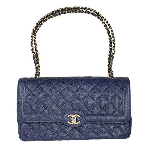 CHANEL BLACK LEATHER CHAIN SHOULDER BAG - Chanel Shoulder Bag