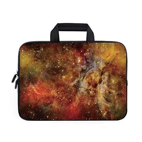 (Space Decorations Laptop Carrying Bag Sleeve,Neoprene Sleeve Case/Nebula in Deep Outer Space with Star Clusters Astro Galaxy Universe/for Apple Macbook Air Samsung Google Acer HP DELL Lenovo)