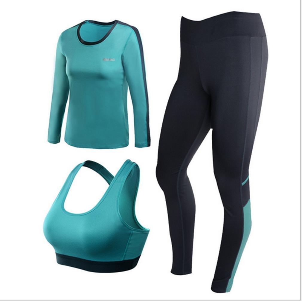 MNII Yoga Kleidung Sets Langarm war dünn Self-Cultivation Sportswear BH DREI Frauen Laufhose- Sportbekleidung !