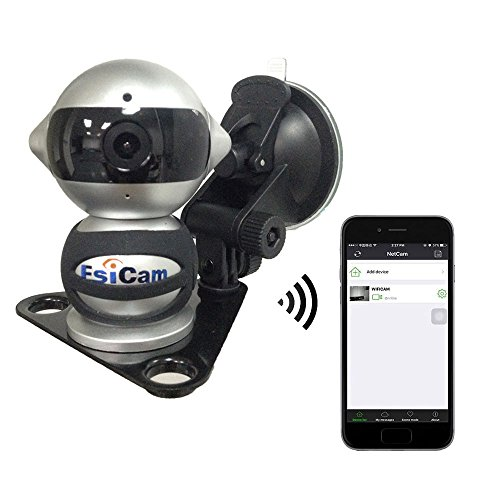 EsiCam Robot Wireless Camera for Smart Phone HD Two Way Audio Night Vision Alarm Recording with Magnetic Mount Suction Cup Used For Dash Cam Vehicle Backup RV Trailer Home Security Baby Monitor-EC07 (Spy Camera Inside Car compare prices)