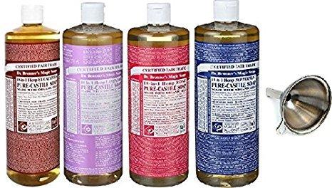 Dr. Bronner's Pure Castile Soap 4 Pack, 16 oz