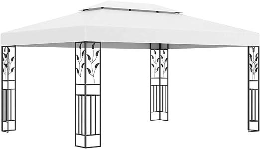 Tidyard Cenador con Doble Techo Blanco 3x4 m Carpa de jardín Carpas para Fiestas: Amazon.es: Hogar