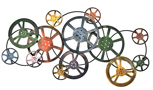 Gears Abstract Metal Wall Art for Modern and Contemporary Sculpture Decor Works Indoor Outdoor