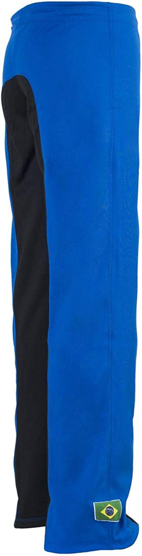 JLSPORT Authentische Brasilianische Capoeira Kampfsport Unisex Hosen Blau Und Schwarz