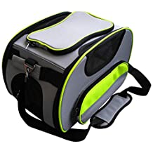 Pet Life Airline Approved Sky-Max Modern Collapsible Designer Fashion Trvel Pet Dog Carrier, Grey, One Size