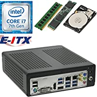 E-ITX ITX350 Asrock H270M-ITX-AC Intel Core i7-7700 (Kaby Lake) Mini-ITX System , 4GB DDR4, 480GB M.2 SSD, 1TB HDD, WiFi, Bluetooth, Pre-Assembled and Tested by E-ITX
