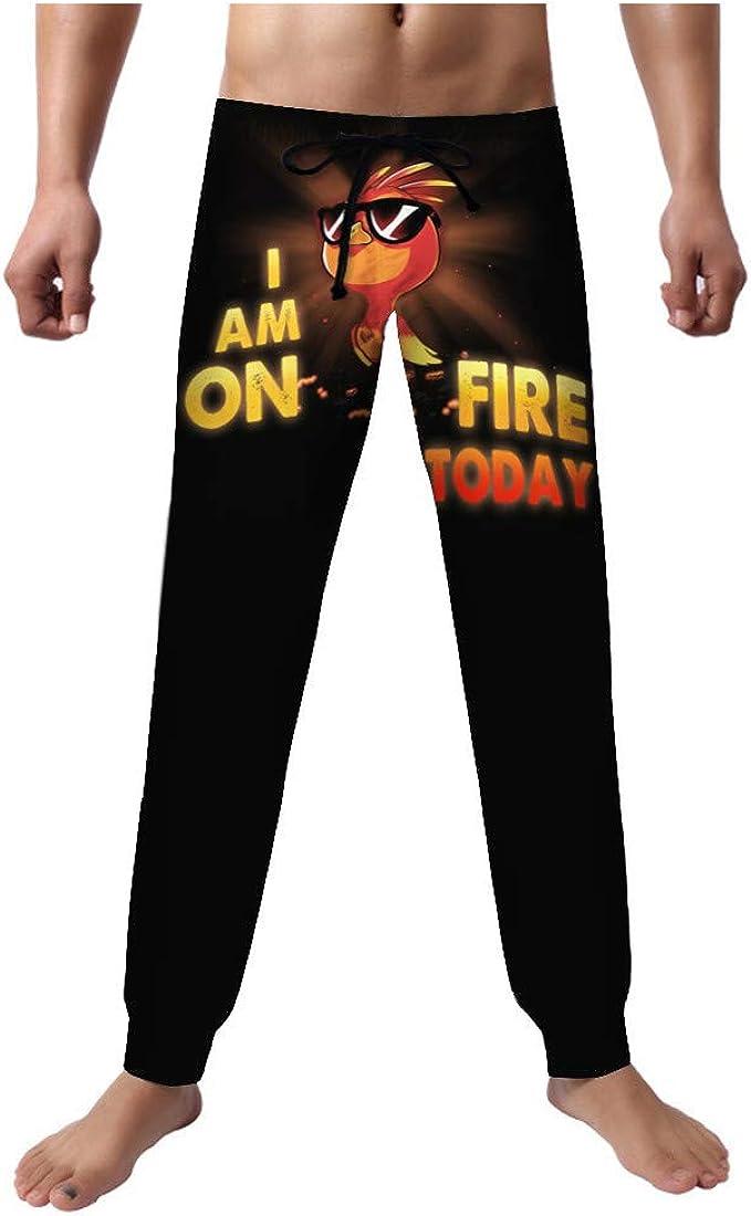 Pantalones gráficos para Hombres Tallas Grandes con cordón de Gallo Impreso Impreso en casa Pijamas Casuales Sueltos Pantalones Rectos elásticos Finos
