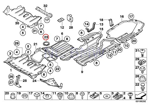 Rear Subframe Reinforcement - BMW Genuine Rear Cover For Subframe Reinforcement