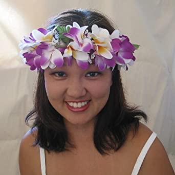 Amazon.com  Purple Plumeria Haku Headband 132042d25d4