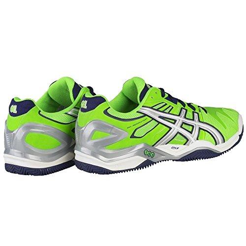 Asics - Gel-Resolution 5 Clay Herren Tennisschuh (grün/silber) Weiß-Grün