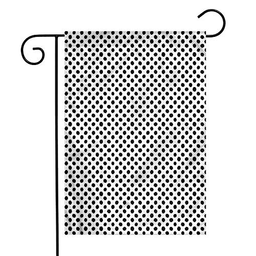 WinfreyDecor Abstract Garden Flag Japanese Motif Lines Spots Premium Material 12