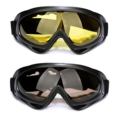 Snow Goggles,FOME 2pcs Sport Sunglasses Snow Goggles Snowboard Goggles with UV400 Protection Windproof Anti-Glare Lenses for Kids Men Women Adults for Riding Motorcycle Skating Skiing - Sun Ski Sports