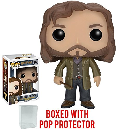 Funko Pop! Movies: Harry Potter - Sirius Black #16 Vinyl Figure (Bundled with Pop BOX PROTECTOR CASE)