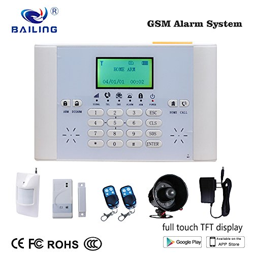 BAILING Wireless LCD GSM & SMS Home House Security Burglar Intruder Alarm System with Auto Dialer