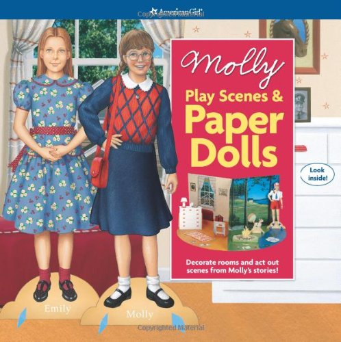 Molly Play Scenes & Paper Dolls (American Girl) (Molly American Girl Doll Books)