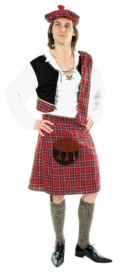Hilka Cesar D061-003 - Disfraz de escocés, talla 56: Amazon.es ...