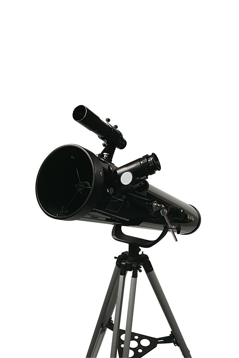 4.5 inch Reflecting Telescope with Alt-Azimuth Yoke Mount, Focal Length 900mm