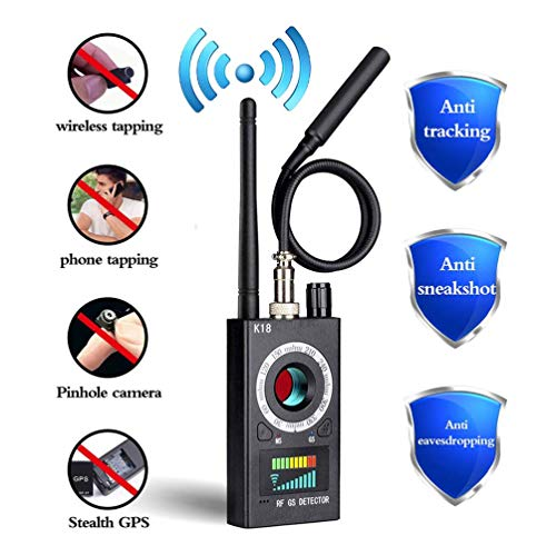 Anti Spy Detector, RF Detector & Camera Finder, Bug Detector, Upgraded RF Signal Detector, FEEKE GSM Tracking Device for Wireless Audio Bug Hidden Camera Detector (Black)