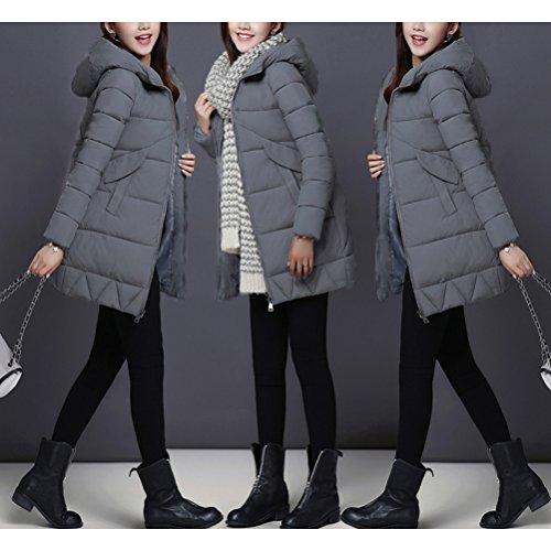 Zhhlaixing Jacket Paragraph Dark for Winter hiver Zipper Women Style Pocket Red Long Fashion Slim Coat Korean Cotton Autumn des en chaleureuses Dress Ladies FwT6Fqr