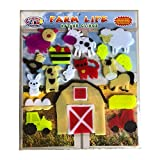 Farm Life Thick Gel Clings - CPSC Tested Safe Jelly Window Clings for Kids - Tractor, Farm House, Sheep, Horse and More Reusable Gel Decals