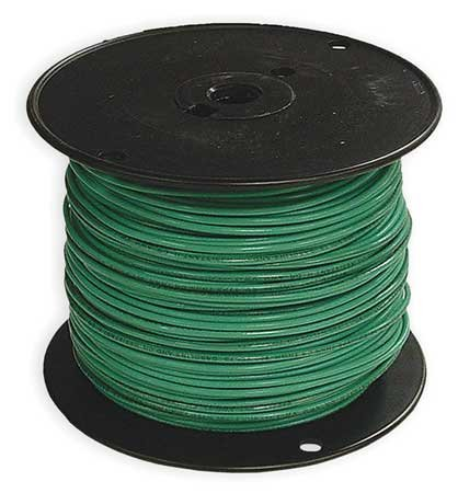 Building Wire, THHN, 12 AWG, Green, 500ft (Thhn Green Wire)