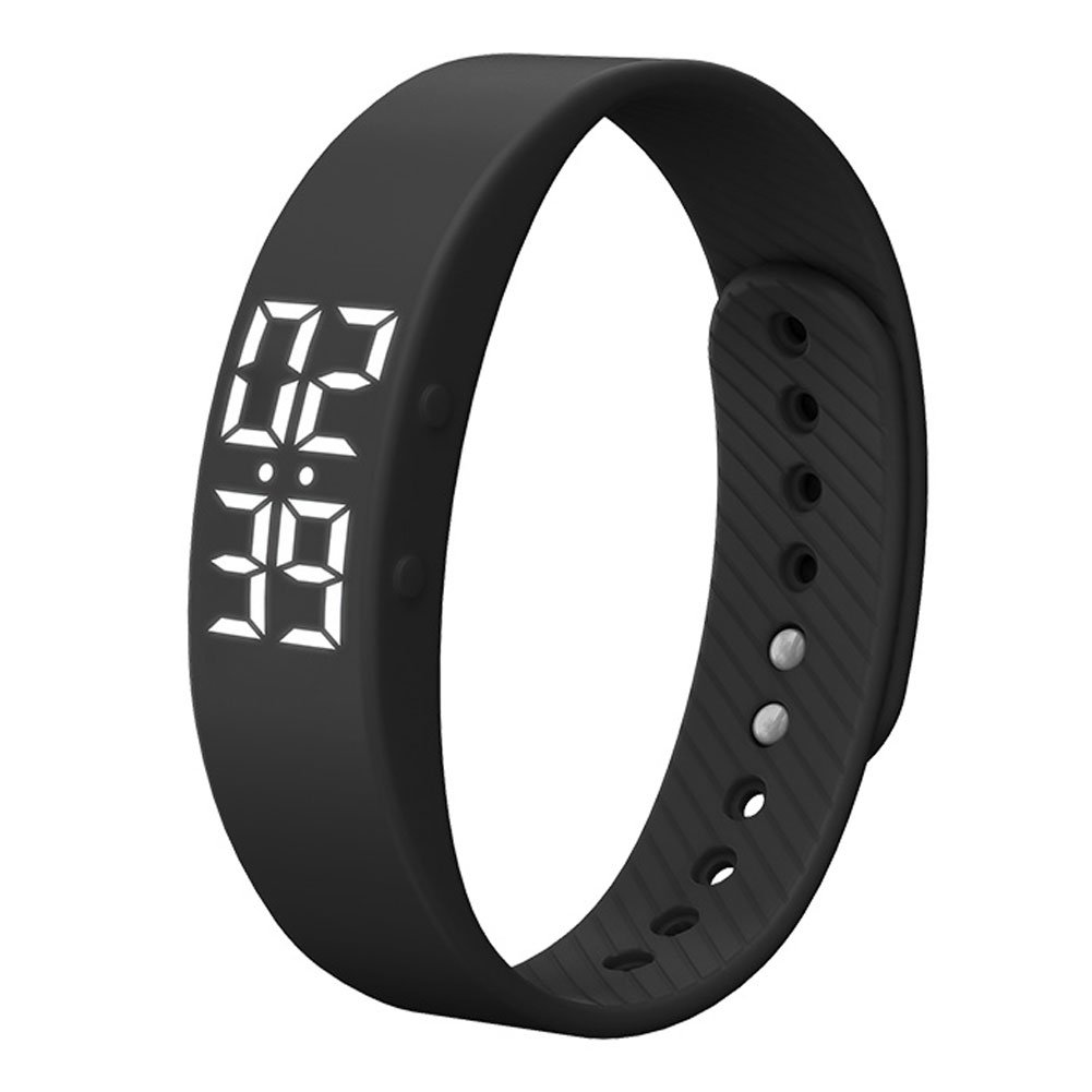 feifuns Smart Wristband Non-Bluetooth Pedometer Bracelet Fitness Tracker Smart Watch with Timer Vibration Alarm Step Calories Counter Distance Time/Date for Walk for Kids[Upgrade Version] (Black)