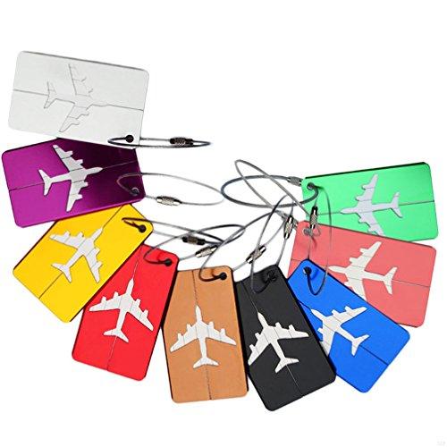SLBGADIEME Case Labels Travel Luggage Accessories Labels Bag A Luggage Tag Travel Bag Luggage Label Tags Handbags Travel Id Tags Travel Bags Hand Luggage Tag Tag 7 Items Black by SLBGADIEME (Image #5)