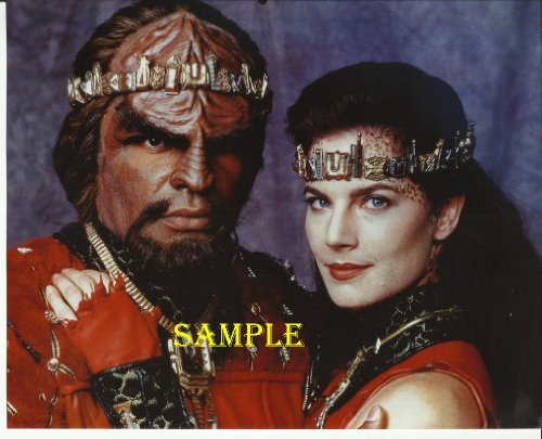 (Star Trek DS9 Deep Space Nine Michael Dorn Terry Farrell Wedding Picture in Red 8x10 Photo DS91209)