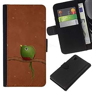 KingStore / Leather Etui en cuir / Sony Xperia Z1 L39 / Verde