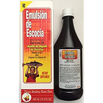 Emulsion De Escocia Strawberry Banana 15.3 Oz. Cod Liver Oil