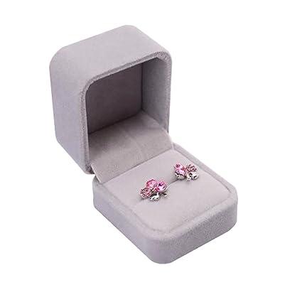 Sukisuki Velvet Necklace Ring Earrings Bracelet Storage Box Jewellery Gift Box