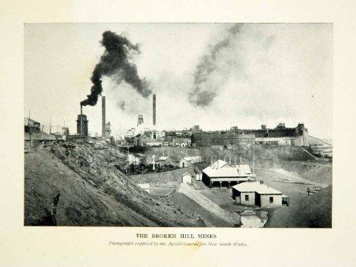 1910-print-broken-hill-mines-new-south-wales-smokestack-outback-australia-remote-original-halftone-p