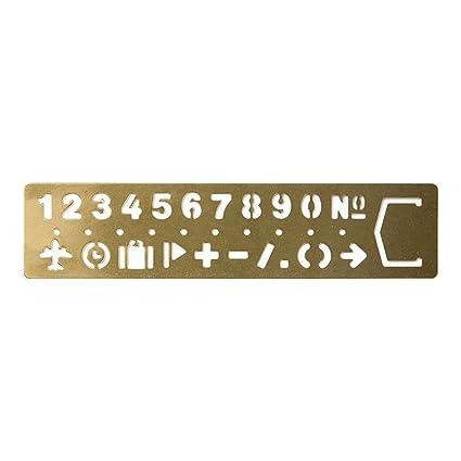 Amazon.com : Midori Brass Template Bookmark, Number (42168006 ...