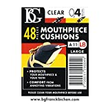 BG A11 L B Large 0.8MM Clarinet Mouthpiece Patch 48 Pieces - Clear