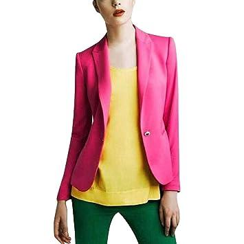 Blazer Chaqueta Mujer SUNNSEAN Blazer de Moda Elegante Color ...