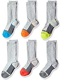 Boys' 6-Pair Half Cushion Crew Socks