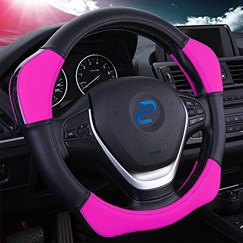 Auto Car Steering Wheel Cover with 4 Booster Anti-slip Universal 15