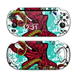 Octopus Design Protective Decal Skin Sticker (High Gloss Coating) for Sony Playstation PS Vita Handheld