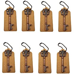 DerBlue 60 PCS Bottle Openers Wedding Favors Rustic Decoration with Escort Tag Card (Bronze-2)