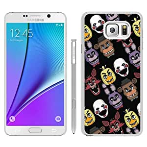 Fashionable Note 5 Case,five nights at freddys pizzeria White Customized Case For Samsung Galaxy Note 5 Case