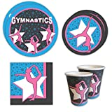 Gymnastics Standard Party Packs (65+ Pieces for 16 Guests!), Gymnastics Party Supplies, Birthday, Decorations, Competition