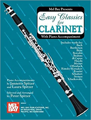 Selected Classics for Clarinet and Piano Sheet Music Book with CD Brahms Haydn