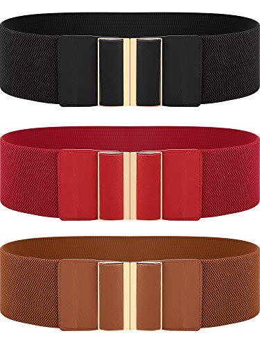 3 Pieces Women Wide Belt...