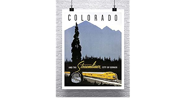 Colorado Railroad Train Vintage Poster Rolled Canvas Giclee Print 24x30 in.