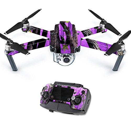 MightySkins Skin for DJI Mavic Pro Quadcopter Drone - Purple Tree Camo | Protective, Durable, and Unique Vinyl Decal wrap Cover | Easy to Apply, Remove, and Change Styles | Made in The USA
