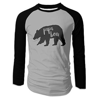 715d1a4274 Amazon.com  Papa Bear Men s Long Sleeve Raglan Baseball T-Shirt  Clothing